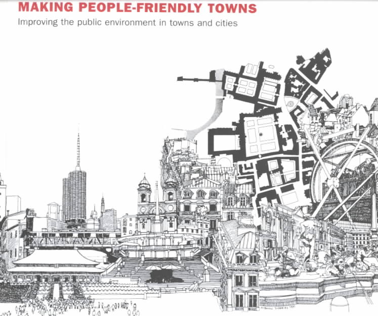 Making People-Friendly Towns By Tibbalds, Francis